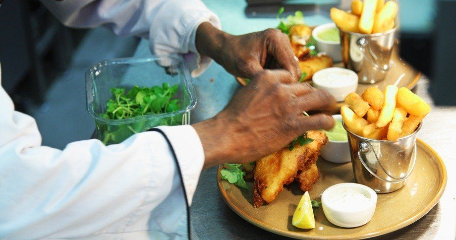 Hand cooked fish and chips